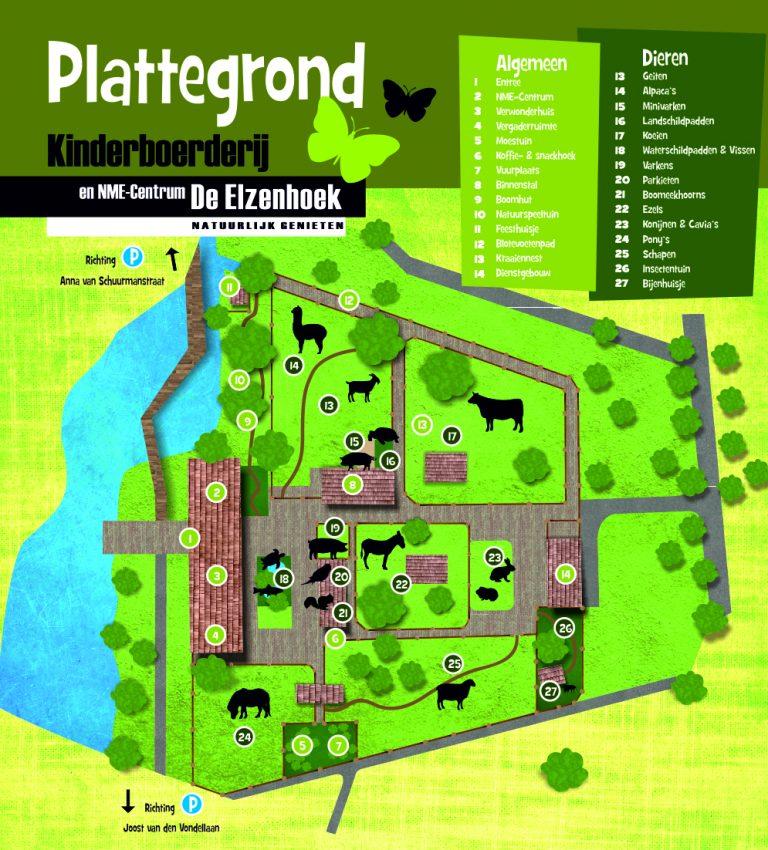Plattegrond De Elzenhoek - NME-Centrum en Kinderboerderij De Elzenhoek